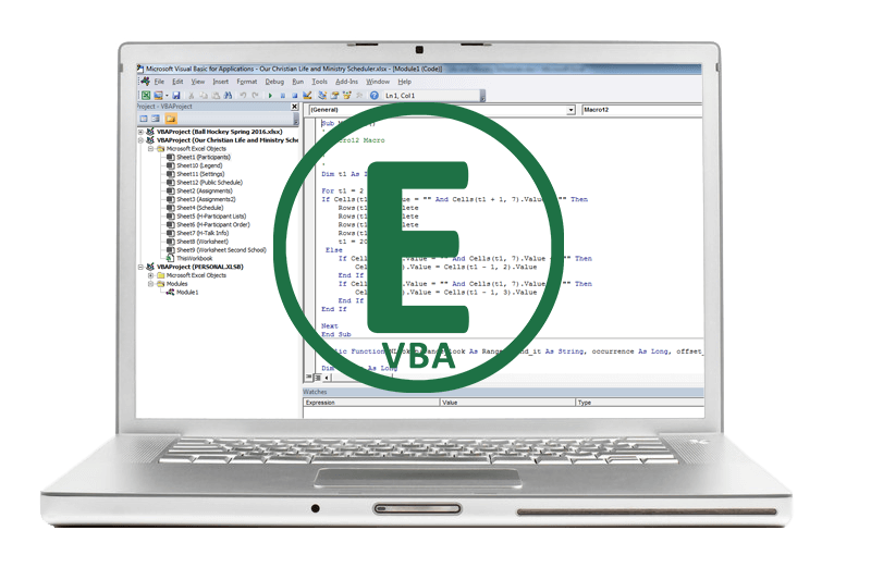 Microsoft Excel VBA Training – JN Software Consulting