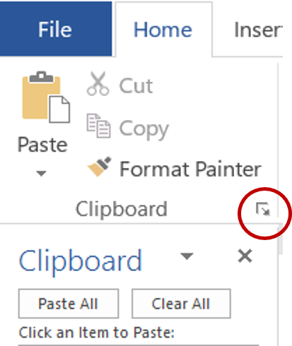 Make Use of the Clipboard Pane – JN Software Consulting